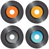 Set vinyl records Stock Photo