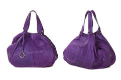 Set of violet women bags Royalty Free Stock Photo
