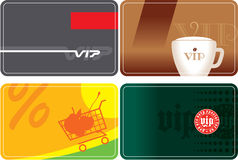 Set of VIP cards design Royalty Free Stock Photography
