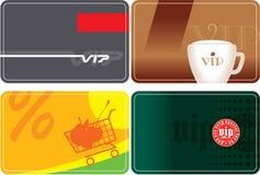 Set of VIP cards design. Set of VIP Plastic Cards Design Including Vector Format royalty free illustration
