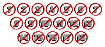 Set of visas censorship  Stock Images