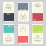 Set of visit cards with geometric figures Stock Photo