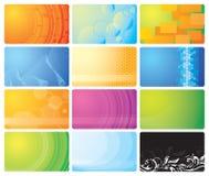 Set Visitenkarten Stockfotografie