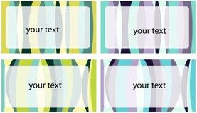 Set Visitenkarten Stockbilder