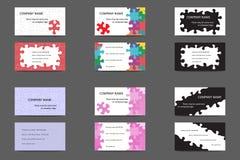 Set Visitenkarten Lizenzfreies Stockfoto