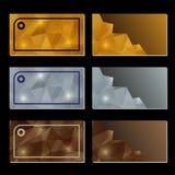Set Visitenkarten Lizenzfreie Stockbilder