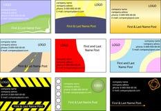 Set Visitenkarten Stockfoto