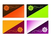 Set Visitenkarteschablonen Stock Abbildung