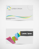 Set of Visiting cards. Royalty Free Stock Photography