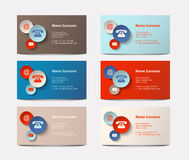Set of visiting cards, illustration Royalty Free Stock Images
