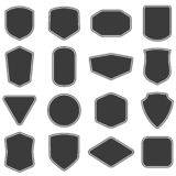 Set of vitage label and badges shape collections. Vector. Black template for patch, insignias, overlay. Set of vitage label and badges shape collections. Vector stock illustration