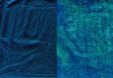 Set of vivid blue worn leather textures Royalty Free Stock Photo
