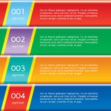 A Set Of Vivid Glossy Banners. A Set Of Vivid Glossy Banners With Option Numbers vector illustration