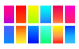 Set of vivid saturated gradients Royalty Free Stock Photo