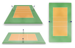Set of volleyball areas with different view Stock Photography