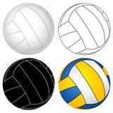 set volleyboll för boll Royaltyfri Fotografi