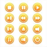 Set von 12 Musikzeichen Lizenzfreie Stockbilder