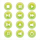 Set von 12 Musikzeichen Lizenzfreie Stockfotografie