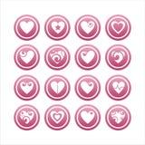 Set von 16 Innerzeichen Stockbilder