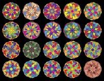 Set von 20 Weihnachtsbaum-vektorverzierungen. Stockbild