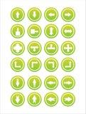 Set von 21 Pfeilzeichen Lizenzfreie Stockfotografie
