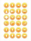 Set von 21 Pfeilzeichen Stockbilder