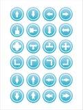 Set von 21 Pfeilzeichen Lizenzfreie Stockbilder
