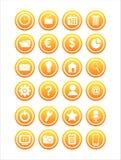Set von 21 Web-Zeichen Lizenzfreie Stockfotos