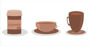Set von 3 Kaffeeikonen Stockbilder