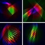 Set von 4 abstrakten vektorhintergründen. Lizenzfreie Stockbilder