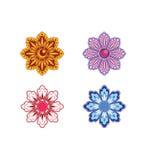Set von 4 Blumen Lizenzfreie Stockfotografie