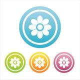 Set von 4 Blumenzeichen Lizenzfreies Stockbild