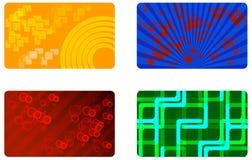Set von 4 färbte Hintergrund betriebsbereit zu Ihrem Text. Lizenzfreies Stockbild