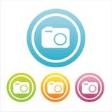 Set von 4 Fotographienzeichen Stockfoto