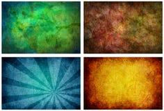 Set von 4 hohen Auflösung-Beschaffenheits-Hintergründen Stockfotografie