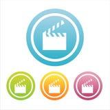 Set von 4 Kinozeichen Lizenzfreie Stockfotografie