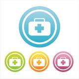 Set von 4 medizinischen Zeichen Lizenzfreie Stockbilder