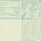 Set von 4 nahtlosen Gekritzelmustern Lizenzfreie Stockbilder