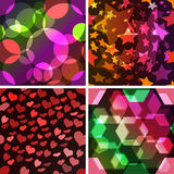 Set von 4 nahtlosen Mustern. Lizenzfreies Stockbild