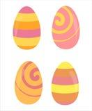 Set von 4 Ostereiern Stockfotografie
