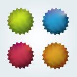 Set von 4 Qualitätsvektoraufklebern Stockfotografie