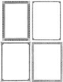 Set von 4 Weinlese-Feldern Lizenzfreie Stockfotos