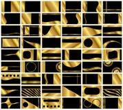 Set von 54 sehr eleganten Visitenkarte-Hintergründen Lizenzfreies Stockfoto