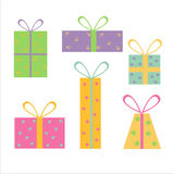Set von 6 Geschenkikonen Lizenzfreie Stockbilder