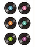 Set von 6 Vinylsatzikonen Lizenzfreies Stockfoto