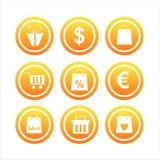 Set von 9 kaufenzeichen Lizenzfreie Stockfotos