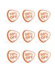 Set von 9 vektoronlineeinkaufenikonen Lizenzfreies Stockfoto