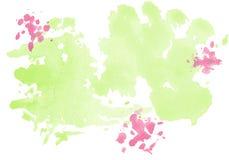 Set von 9 Abbildungen der wundervollen mehrfarbigen Tulpen Bunte Kleckse des Aquarellvektors Lizenzfreies Stockbild
