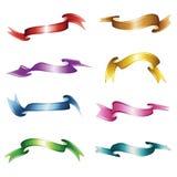 Set von acht Farbbänder Stockfotografie