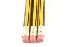 Set von drei Bleistiften stockfotos